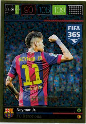 Limited Edition, 2015-16 Adrenalyn FIFA 365 Neymar