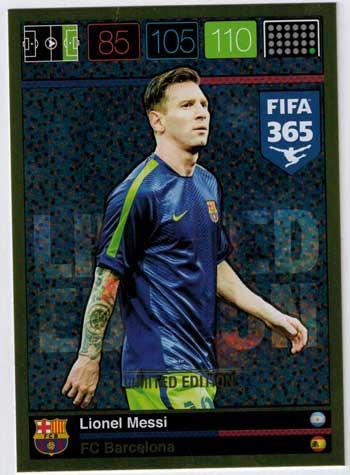 XXL Limited Edition, 2015-16 Adrenalyn FIFA 365 Lionel Messi XXL