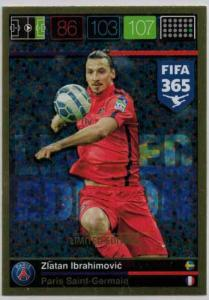 XXL Limited Edition, 2015-16 Adrenalyn FIFA 365 Zlatan Ibrahimovic XXL