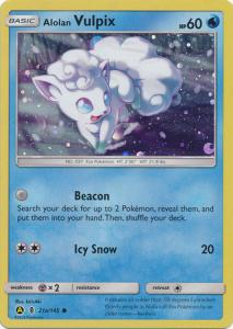 Pokemon Alternate Holo Promos Alolan Vulpix - 21a/145 - Alternate Art Promo