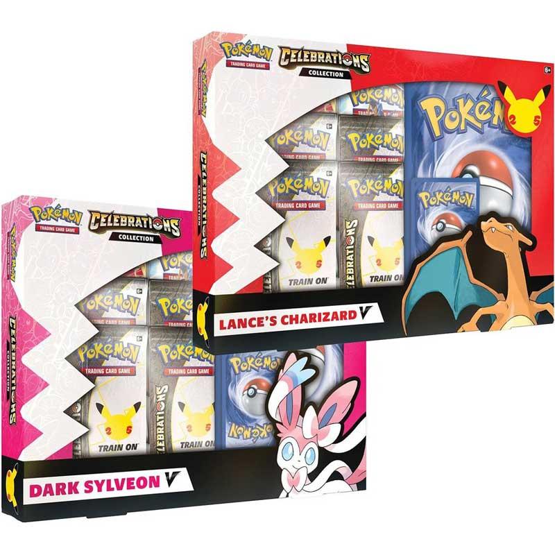 [MAX 2 BUNDLES PER HUSHÅLL] Pokemon Celebrations V Collection x 2 (Dark Sylveon & Lance's Charizard)