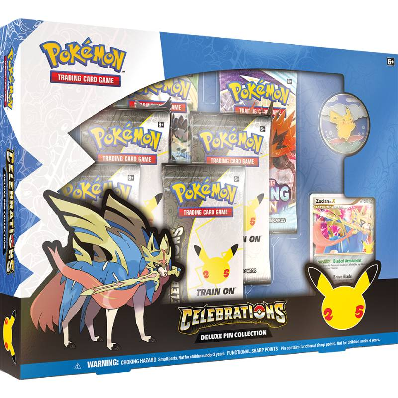 [MAX 3 PER HUSHÅLL] Pokemon Celebrations Deluxe Pin Collection