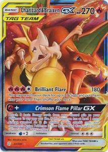 Pokemon S&M: Cosmic Eclipse - Charizard & Braixen GX - 22/236 - Ultra Rare