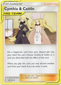 Pokemon S&M: Cosmic Eclipse - Cynthia & Caitlin - 189/236 - Uncommon