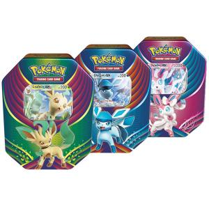 Pokémon, Evolution Celebration Tins x 3 (Leafeon-GX, Glaceon-GX & Sylveon-GX)