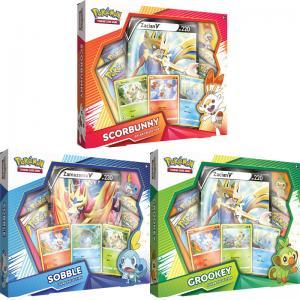 Pokémon, Galar Collection x 3 (Grookey, Scorbunny & Sobble)