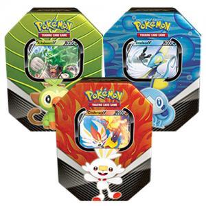 Pokémon, Galar Partners Tin x 3 (Rillaboom V, Cinderace V & Inteleon V)