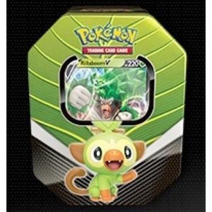 PRE-BUY: Pokémon, Galar Partners Tin - Rillaboom V (Preliminary release February 27:th 2020)