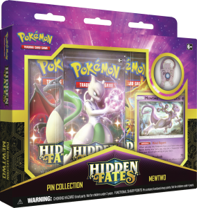 Pokémon, Hidden Fates, Pin Collection - Mewtwo
