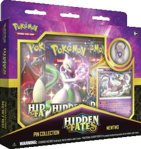 FÖRKÖP: Pokémon, Hidden Fates, Pin Collection - Mewtwo (Preliminär release 23:e augusti 2019)