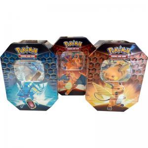 [MAX 9 BUNDLES PER HUSHÅLL] Pokémon, Hidden Fates, Tin x 3 (Charizard, Gyarados & Raichu) [MAX 9 BUNDLES PER HUSHÅLL]