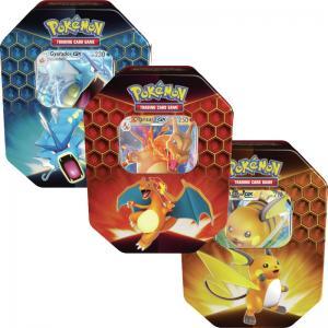 Pokémon, Hidden Fates, Tin x 3 (Charizard, Gyarados & Raichu)
