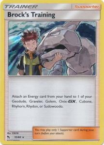 Pokemon S&M: Hidden Fates - Brock's Training - 55/68 - Holo Rare