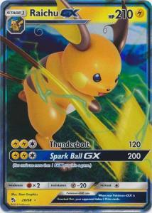 Pokemon S&M: Hidden Fates - Raichu GX - 20/68 - Ultra Rare