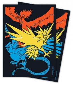 S&M Hidden Fates Moltres & Zapdos & Articuno 65st Standard Sized Sleeves (Från Hidden Fates Elite Trainer Box)