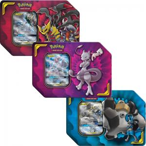 Pokémon, Power Partnership Tin x 3 (Mewtwo & Mew-GX, Lucario & Melmetal-GX samt Garchomp & Giratina-GX)
