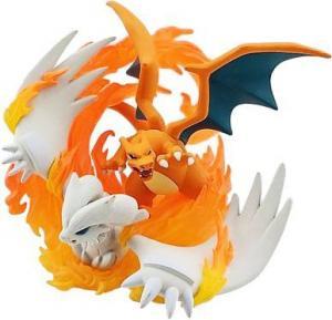 Pokemon Collectible Figures - Reshiram & Charizard GX