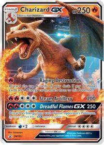 JUMBO Pokemon S&M Promos - Charizard GX - SM195 - Promo JUMBO (Large card)