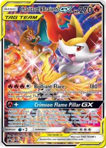 JUMBO - Pokemon S&M - Charizard & Braixen GX - SM230 - JUMBO Promo (Stort kort)
