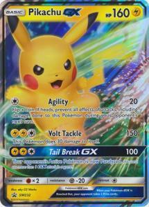 JUMBO - Pokemon S&M - Pikachu GX - SM232 - JUMBO Promo (Stort kort)