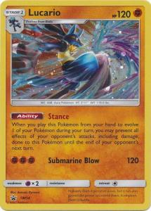 Pokemon Sun & Moon Promos Lucario - SM54 - Holo Promo