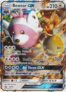 JUMBO, Sun & Moon Promo Cards, Bewear GX - SM34 - JUMBO (Stort kort)