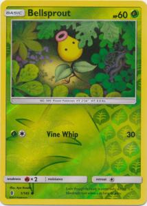 SM Guardians Rising, Bellsprout - 1/145 - Common Reverse Holo