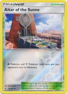 SM Guardians Rising, Altar of the Sunne - 118/145 - Uncommon Reverse Holo