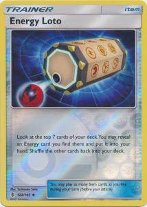 SM Guardians Rising, Energy Loto - 122/145 - Uncommon Reverse Holo