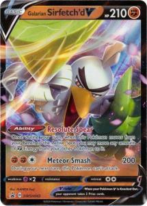 JUMBO Pokemon Sw&Sh Promo - Galarian Sirfetch'd V – SWSH043 - JUMBO Promo (Stort kort)
