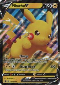 JUMBO Pokemon Sw&Sh Promo - Pikachu V - SWSH061 - JUMBO Promo (Stort Kort)