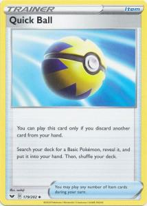 Pokemon SWSH: Base Set - Quick Ball - 179/202 - Uncommon