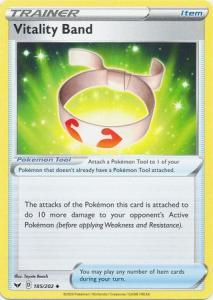 Pokemon SWSH: Base Set - Vitality Band - 185/202 - Uncommon
