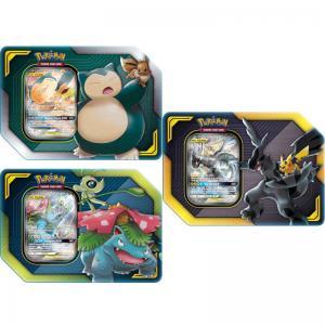 Pokémon, Tag Team Tin x 3 (Pikachu & Zekrom-GX, Eevee & Snorlax-GX and Celebi & Venusaur-GX)