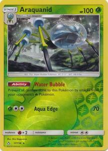 SM Ultra Prism Araquanid 017/156 Reverse Rare