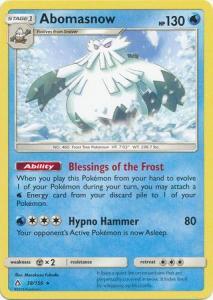 SM Ultra Prism Abomasnow 038/156  Rare