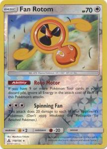 SM Ultra Prism Fan Rotom 110/156 Reverse Rare