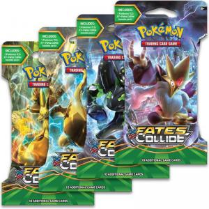 Pokémon, XY Fates Collide, 4 Sleeved Boosters (Alla 4 motiv)
