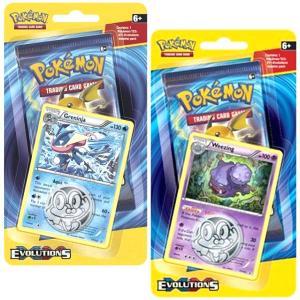 Pokémon, XY Evolutions, 2 x Checklane Blister Pack: Greninja + Weezing