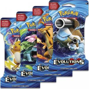 Pokémon, XY Evolutions, 4 Sleeved Boosters (All 4 arts)