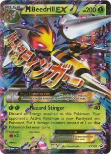 JUMBO Pokemon XY Promo - Mega M Beedrill EX - XY158 - Ultra Rare Promo
