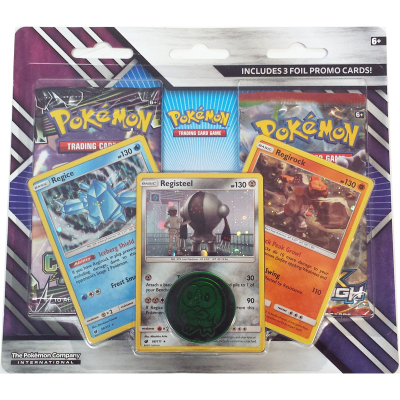 Pokémon, Enhanced 2-Pack Blister (Regice, Registeel & Regirock)