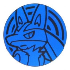 Pokémon, Coin, Lucario Holo Blue