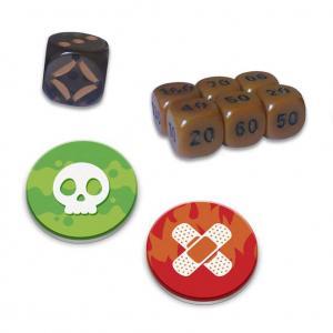 Shining Fates Damage Counter Dice Set of 6 Plus Bonus Die