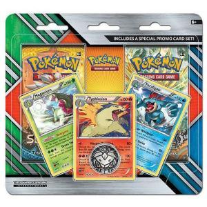 Pokémon, Enhanced 2-Pack Blister, Meganium + Typhlosion + Feraligtr