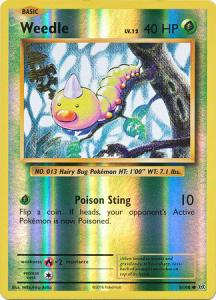 XY12 Evolutions, Weedle - 5/108 - Common Reverse Holo