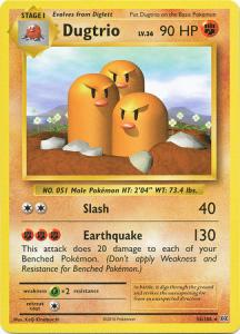 XY12 Evolutions, Dugtrio - 56/108 - Rare