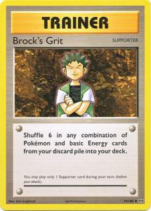 XY12 Evolutions, Brock's Grit - 74/108 - Uncommon