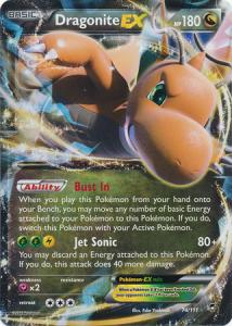 JUMBO XY Furious Fists Singles, Dragonite-EX - 74/111 - Ultra Rare