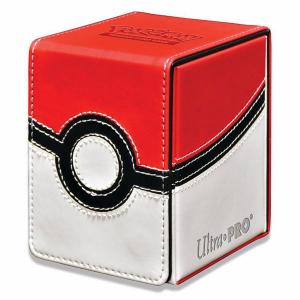 Pokémon Alcove Flip Box, Ultra Pro, Poke Ball, Holds 100 double sleeved cards
